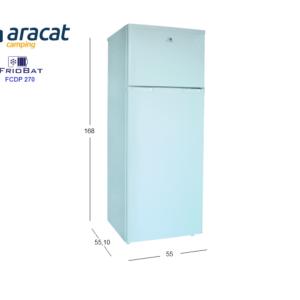Medidas frigorífico Friobat FCDP270
