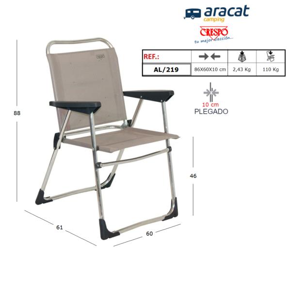 Ficha técnica sillón Crespo AL/219