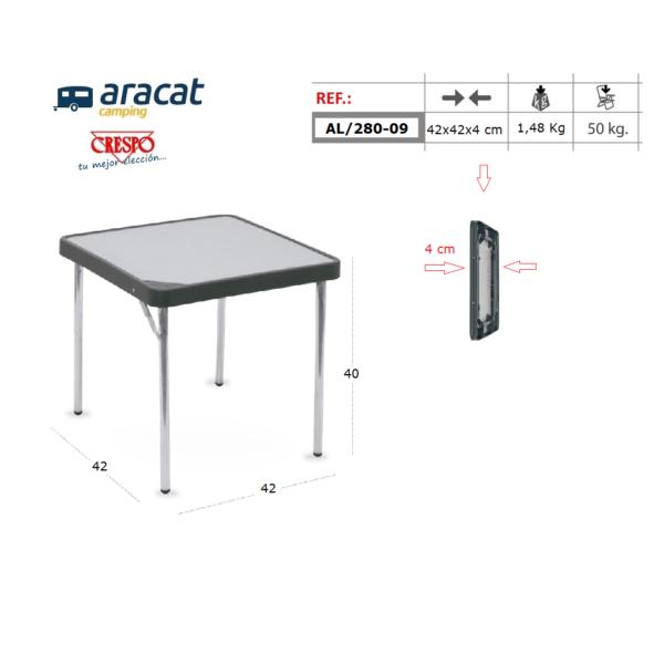 Ficha técnica mesa Crespo AL/280