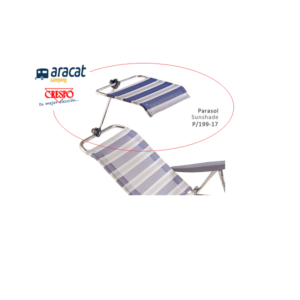 Parasol, valido para acoplar en algunas sillas de playa, hamacas, camas, tumbonas