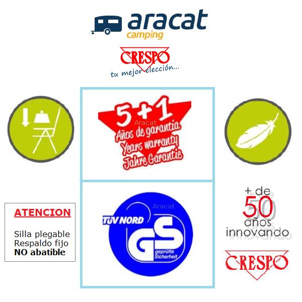 Aracat y Crespo sillas con respaldo no abatible