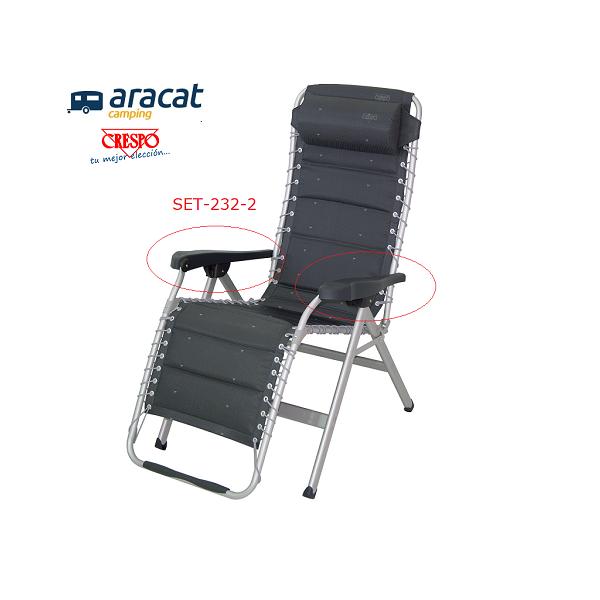 Recambio de reposabrazos para butacas, sillas, tumbonas y camas Crespo
